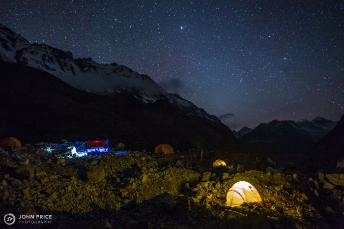 Basecamp on the Ramdang  Glacier.